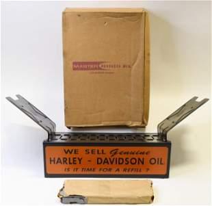Vintage NOS Harley-Davidson Catalog Display Rack
