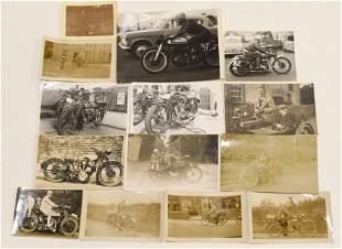 Early Original Motorcycle Photgraph / RPC Lot