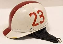 Vintage Brimmed Racing Crash Helmet No.23