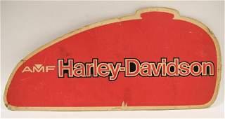 Vintage DS AMF Harley-Davidson Cardstock Adv Sign