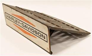 Vintage Harley-Davidson Metal Catalog Display Rack
