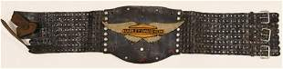 Vintage HD Jeweled Leather Motorcycle Kidney Belt