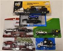 1/64 Ertl Pickup Trucks w/ Trailers & Semi Truck