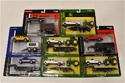 1/64 Ertl Ford & Dodge Pickup Trucks w/ Trailers