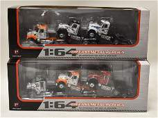 (2) 1/64 1st Gear Granite Mack 3-Piece Truck Sets