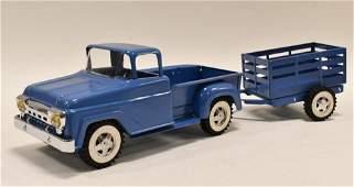 Restored Tonka Stepside Truck w/ Stake Trailer