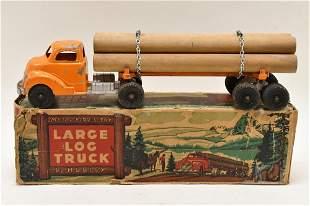 Hubley Metal Kiddie Toy Large Log Truck No. 505