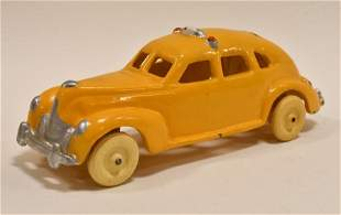 Restored Hubley Cast Iron Yellow Cab Taxi