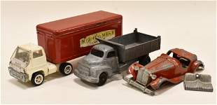 Lot Of Marx and Hubley Trucks and Car