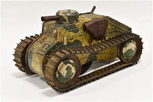 Marx Tin Windup Sparkling Climbing Fighting Tank