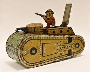 Marx Tin Windup Doughboy U.S. Army Tank