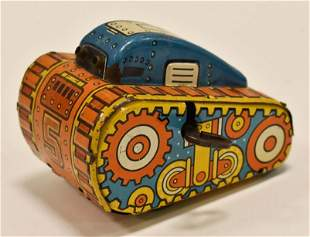 Marx Tin Litho Windup Rollover Tank