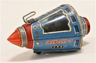 S.H Japan Tin Friction Friendship 7 Space Capsule