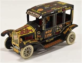 Marx Tin Litho Windup Old Jalopy Car