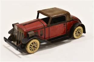 Marx Tin Windup Coupe Car w/ Electric Headlights
