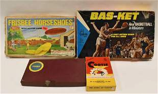 Lot of Vtg Board Games Basketball, Cootie, & More