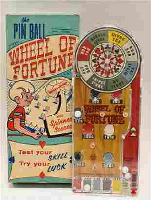 Marx Pinball Wheel Of Fortune In Box