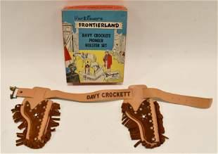 Walt Disney's Davy Crockett Pioneer Holster Set