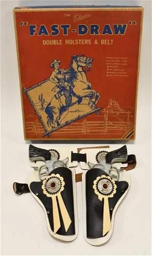 Stevens Pioneer Cap Gun Set w/ Leather Holster