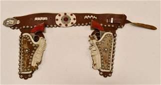 Kilgore Big Horn Cast Iron Cap Gun Set w/ Holster