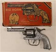 Kilgore Big Horn Six Shooter Cap Pistol w/ Box