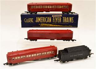 American Flyer S Gauge Baggage, Coach, & Tender