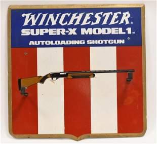 Vintage Winchester Super-X Shotgun Display Rack