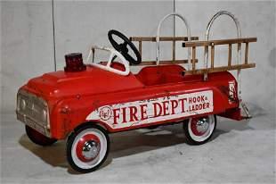 AMF Fire Dept. Hook and Ladder Pedal Car