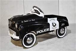Contemporary Highway Partol police Pedal Car