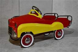 Contemporary Red and Yellow Dipside Pedal Car