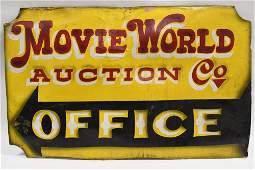 Von Dutch Original Hand Painted Movie World Sign