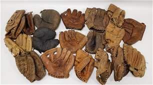 Vintage Baseball Glove Collection