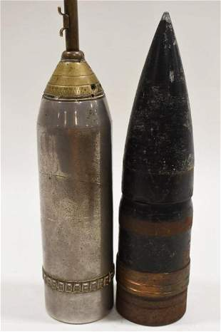 WWII Era MIlitary Artillery Warheads Trench Art