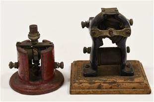 2  Antique Small Electric Motors / Little Hustler