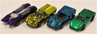 Lot of (4) 1967 / 1968 Hot Wheels Redline Cars