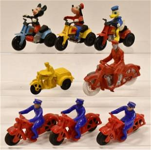 Marx Mickey Mouse On Trike, Motorcycles, & More