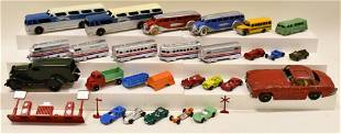 Lot Of Tootsietoy & Midgetoy Cars, Buses & Train