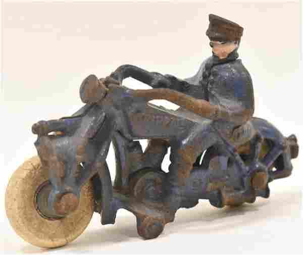 Hubley Cast Iron Champion Motorcycle
