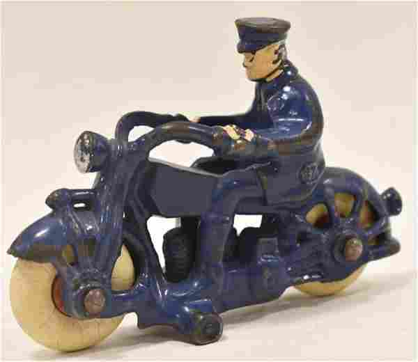 Hubley Cast Iron Motorcycle