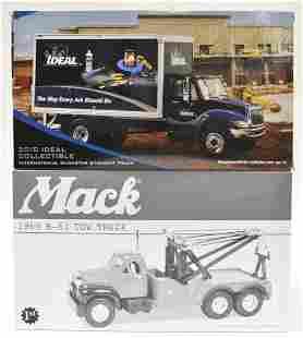 1/34 1st Gear Mack Tow Truck & IH Straight Truck