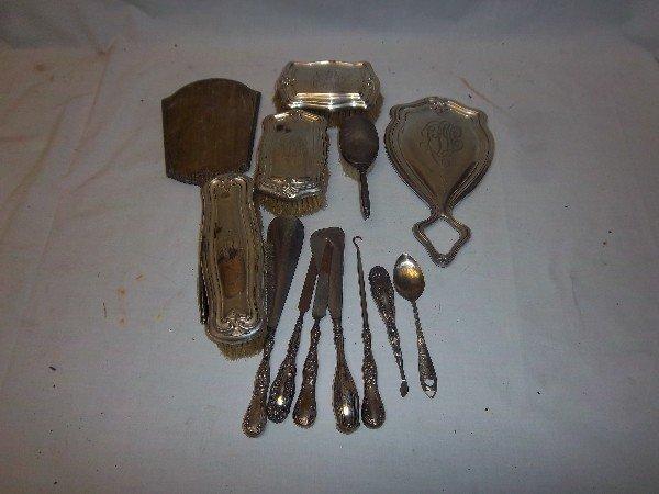 6: Sterling Silver Dresser Set