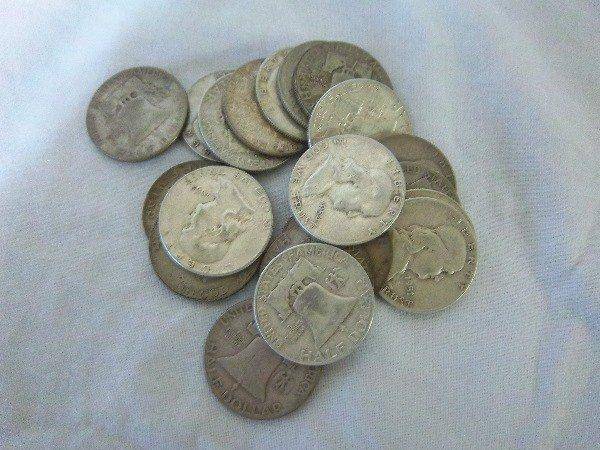 9: $10 FV Franklin Half Dollars