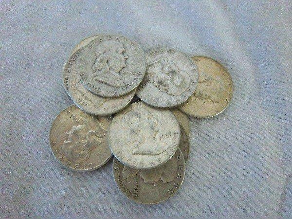 10: $6.50 FV Franklin Half Dollars