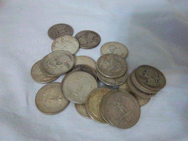 13: $5.75 FV Silver Washingotn Quarters
