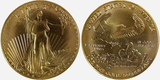 18: 1998 $50 Gold Eagle