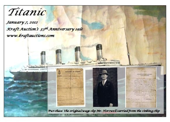 98: Titanic Wage Slip- Horswell Collection - Oil Painti