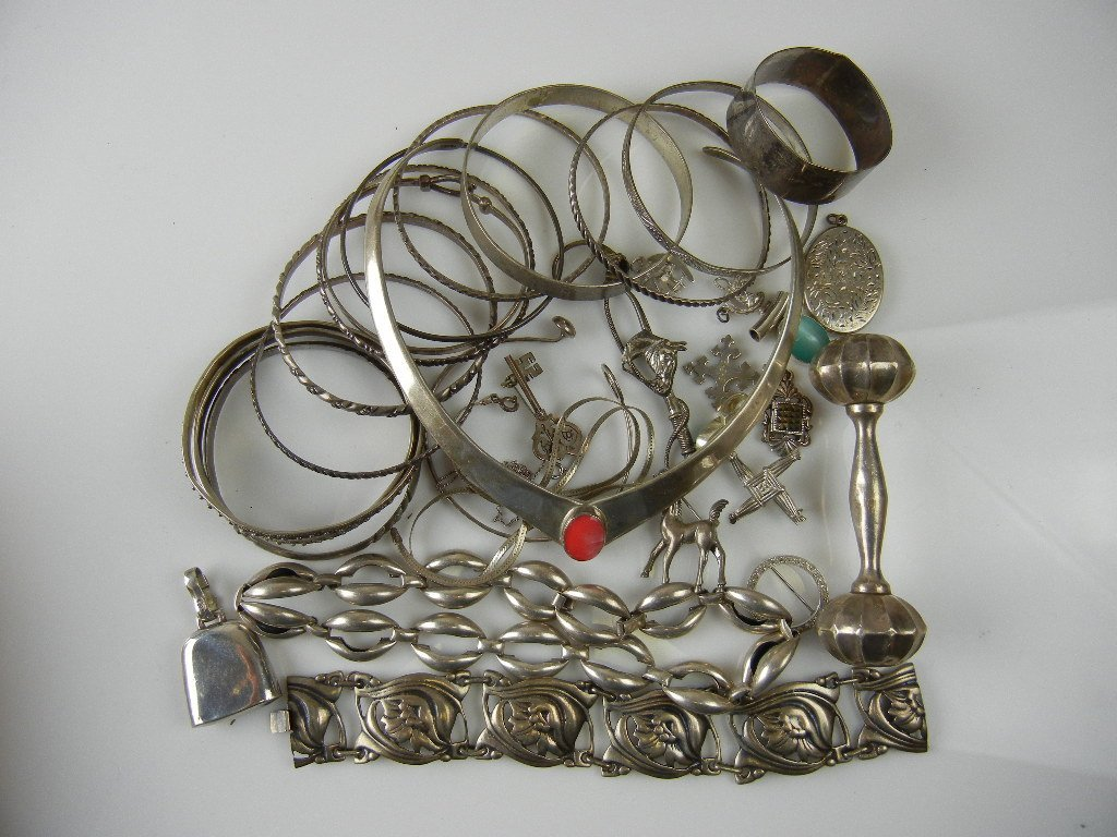 1001A: Sterling Silver Jewelry Lot, 13.7oz