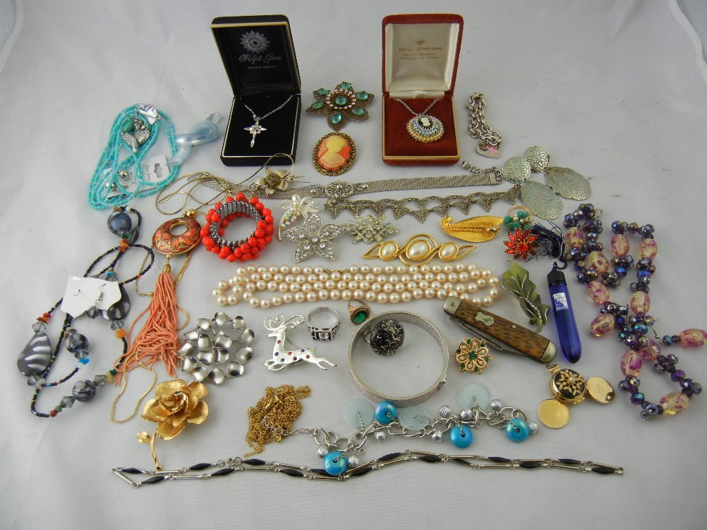 1001C: Nice Group Lot of Costume Jewelry (Evening in Pa