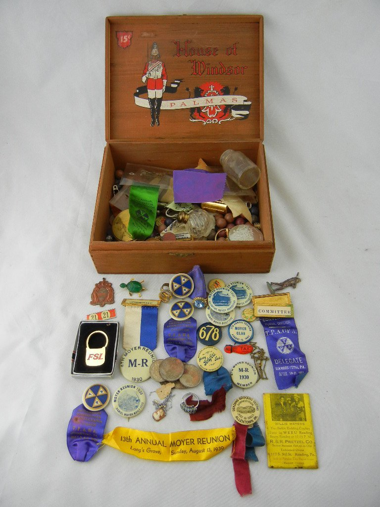 1002D: Misc. Vintage Pins, Coins, and Other Items In Ci