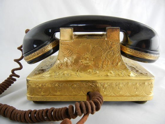 1124A: Bensabott Sterling Silver Telephone with Coral D - 5